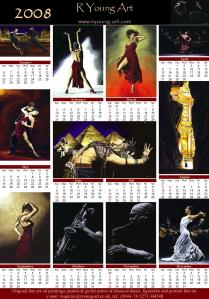 2008 fine art dance and musician calendar