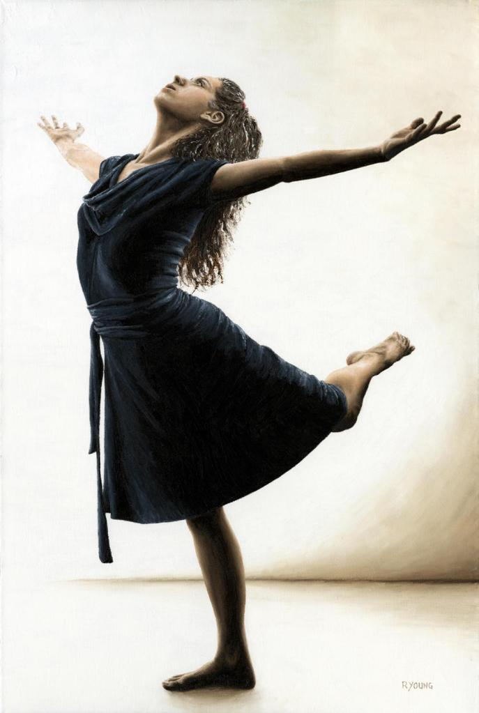 Graceful Enlightenment - Emily Meghnagi. Fine art original oil painting on a 91cm x 61cm stretched canvas created in 2011 using a knife. Produced in cooperation with Emily. Original available. Framed = £1,598