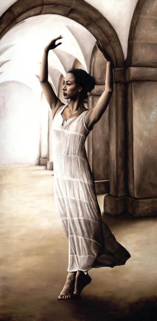 Heaven's Angel - Caitlin Lockwood. Fine art original oil painting on a 120cm x 60cm stretched canvas created in 2009 using a knife. Produced in cooperation with Dan Fisico and Caitlin. Original available. Framed = £1,213