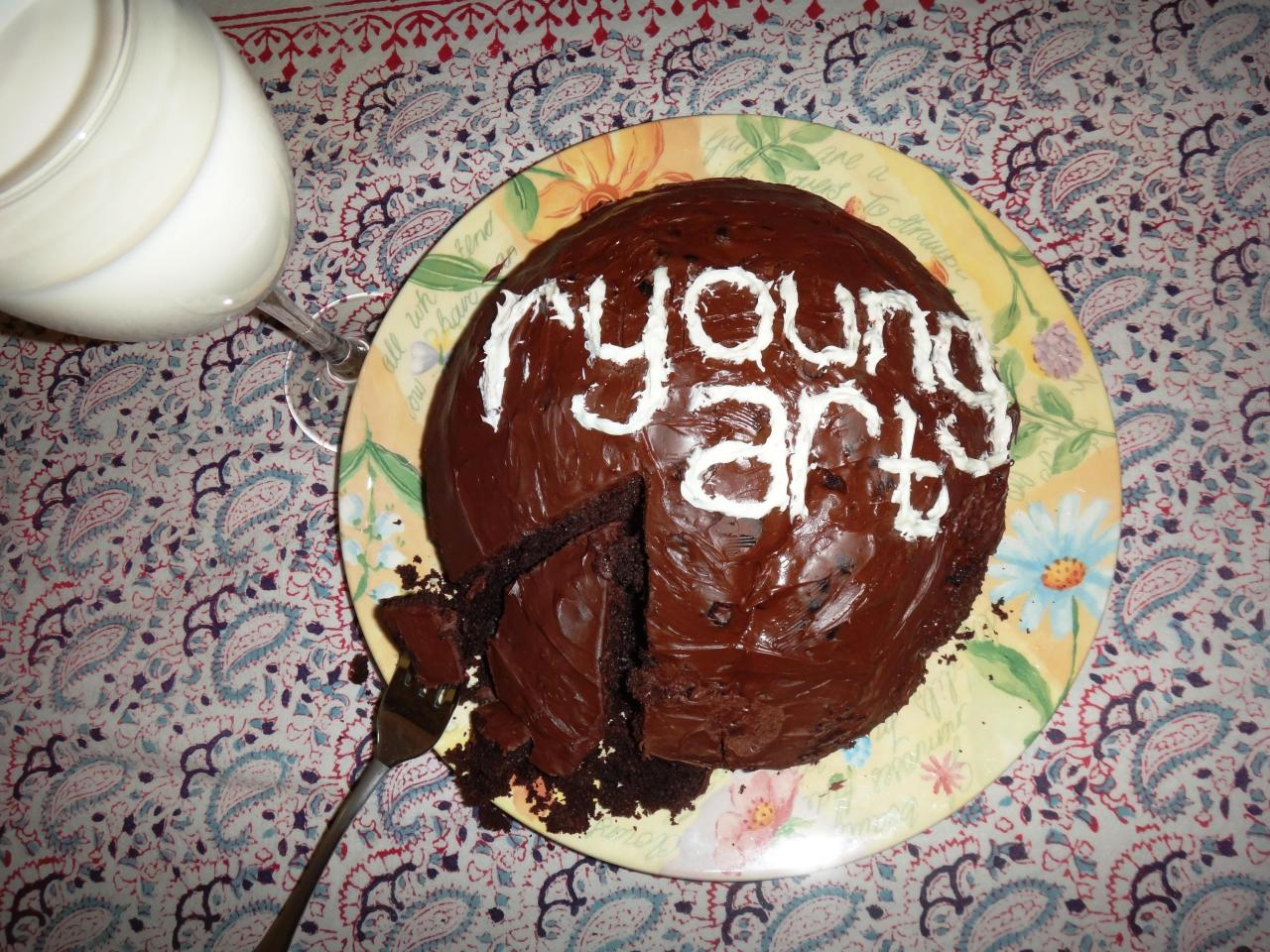 r-young-art-chocolate-cake-promotional-advertising