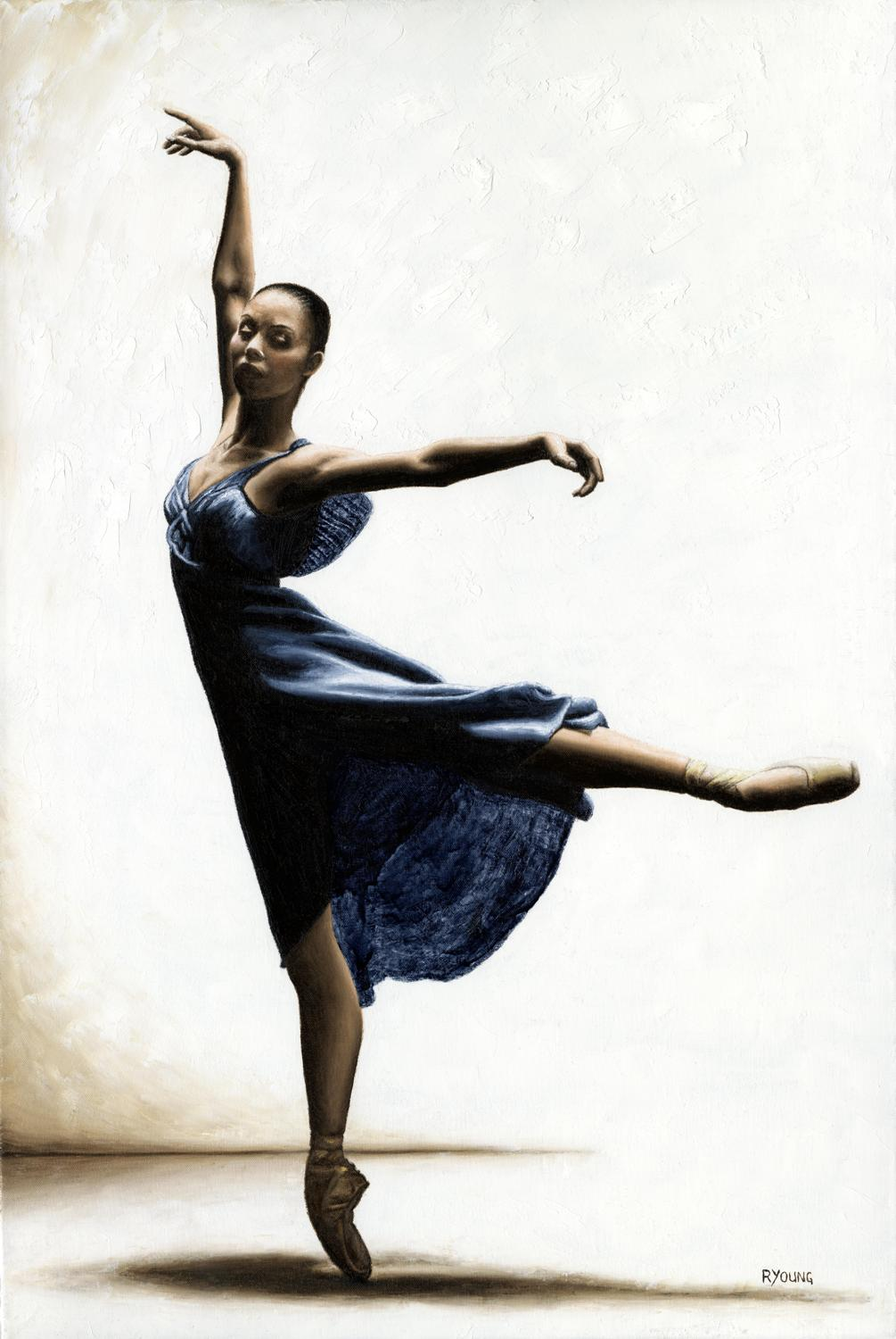 Refined Grace - Susan Jaffe Fine art original oil painting. 91cm x 61cm. 2011. Produced in cooperation with Susan Jaffe and Gregory Heisler