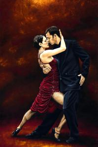 That Tango Moment Fine art original oil painting. 91cm x 61cm. 2006. Produced in cooperation with Natalie Laruccia, Walter Perez and Sandra Antognazzi.