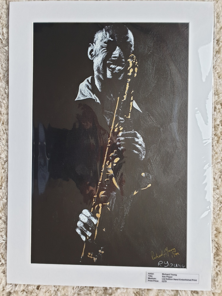 Sax Player Ltd Edition Print